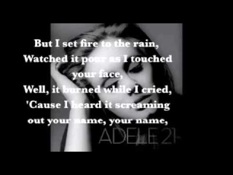 Adele   Set Fire to the Rain Lyrics   Ouvir musicas mp3, Escutar musicas online1