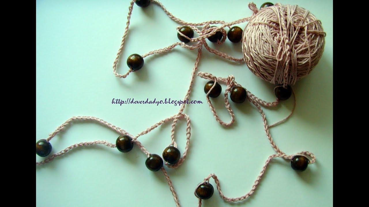 Diy collar como hacer collar sencillo de crochet facil - Ideas para hacer ganchillo ...