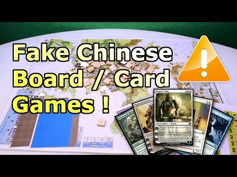 Attention ! FAKE Board Games and Magic Cards from CHINA !