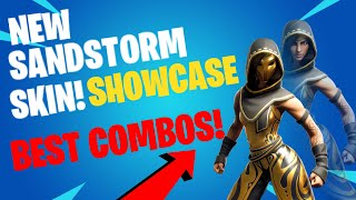 *NEW* FORTNITE SANDSTORM SKIN SHOWCASED WITH ALL MY BACKBLINGS! BEFORE YOU BUY BEST COMBOS
