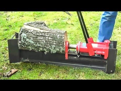World Amazing Fastest Firewood Processing Machine - Largest Wood Cutting Chainsaw Machine