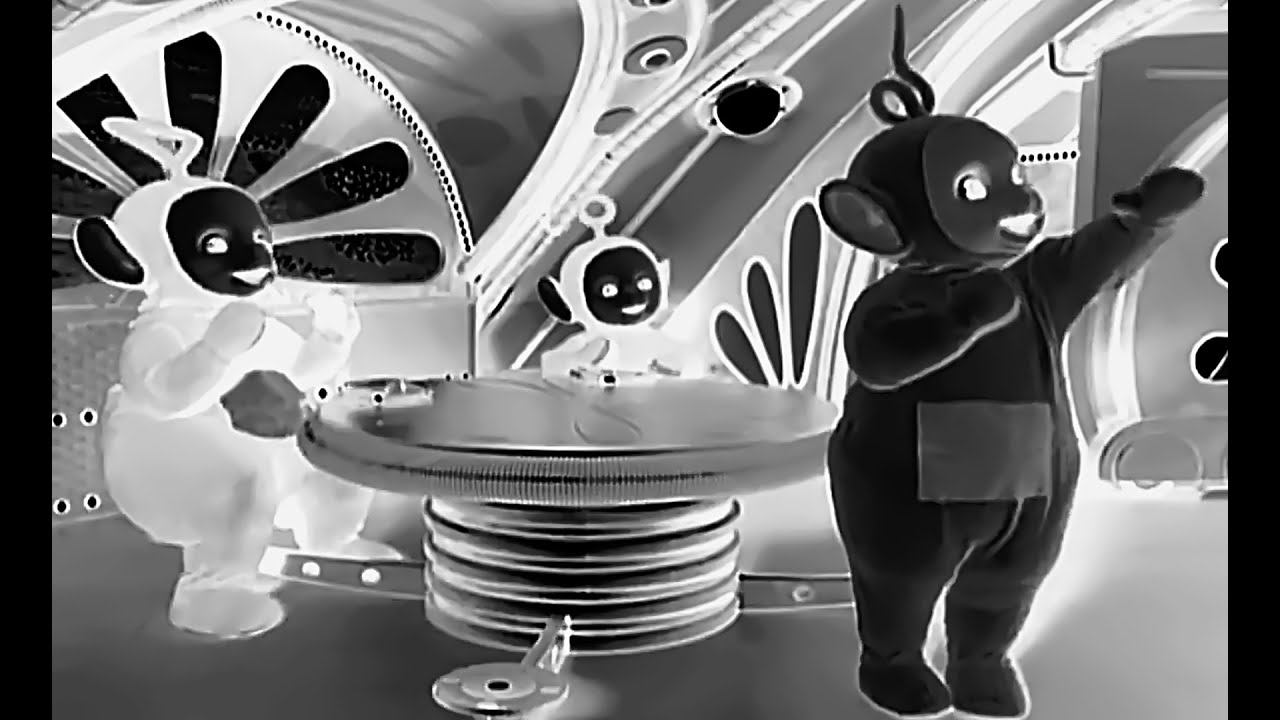 Teletubbies Scott Walker And Sunn O Together Again YouTube - Teletubbies in black and white is terrifying