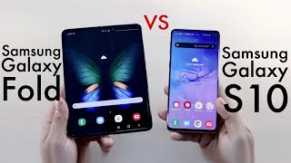 Samsung Galaxy Fold Vs Samsung Galaxy S10! (Comparison) (Review)