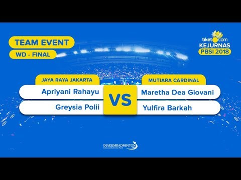 Divisi 1   Final - WD   Apriyani/Greysia (Jaya Raya) VS Maretha/Yulfira(Mutiara Cardinal) Mp3