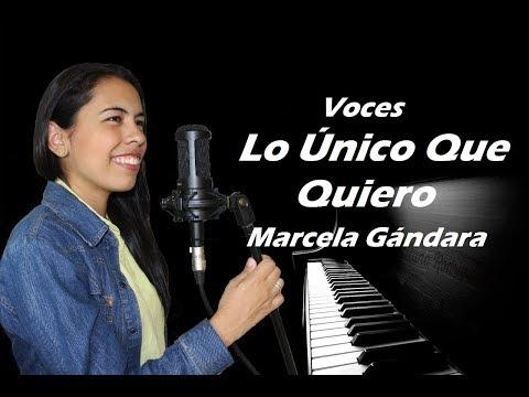 Voces Lo único Que Quiero - Marcela Gandara