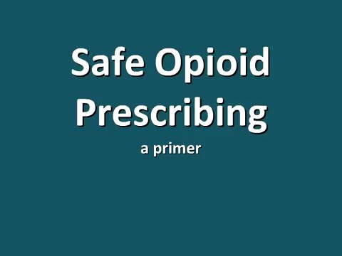 Incorporating the New Opioid Prescribing Guidelines Into Practice