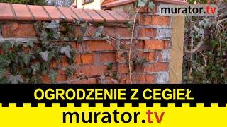 Rozsypujące się ogrodzenie z cegieł - Pogotowie budowlane Muratora