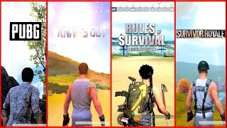 🔥PUBG Mobile VS Knives Out VS Rules Of Survival VS Survivor Royale 🔥 Ultimate Comparison.