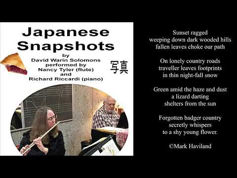 Japanese Snapshots for flute and piano