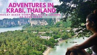 Adventures in Krabi, Thailand - Railay Beach Viewpoint Hike & Lagoon, Ao Nang Beach