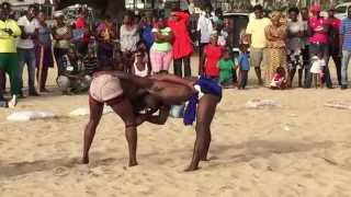 Senegalese Tribal Patty Cake Fighting on the beach