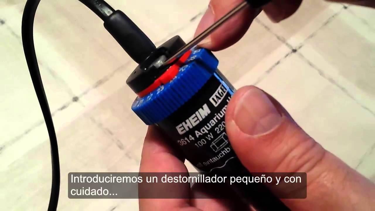 Como ajustar el calentador EHEIM Jager - YouTube