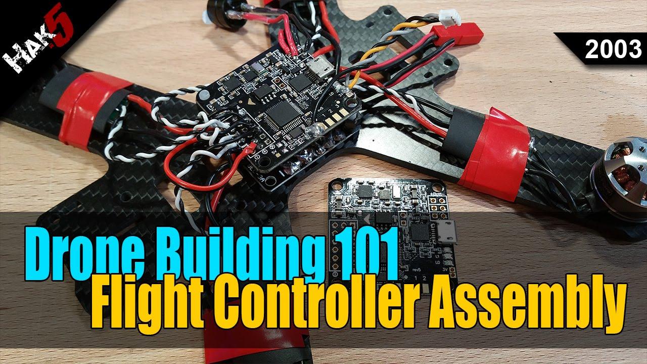 Soldering the Flight Controller - Drone Building 101 - Hak5 2003