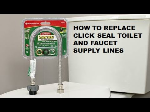 how to install fluidmaster click seal toilet and faucet water supply lines from home repair tutor