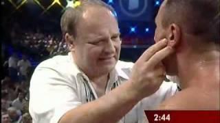 Abraham vs Miranda - Headbutt and Fracture BRUTAL !!!