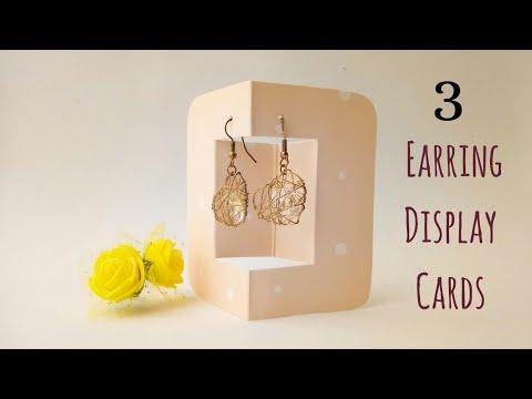 3 Diy Earring Display Cards Easy Jewelry Packaging Ideas Handmade Gift Packaging Idea Giftideas