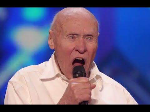 82 Year Old Man Covers DROWNING POOLS Bodies on Americas Got Talent