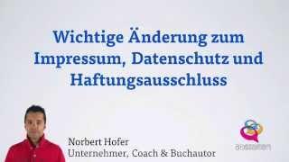Update - Rechtssicheres Impressum erstellen +Datenschutz Mp3