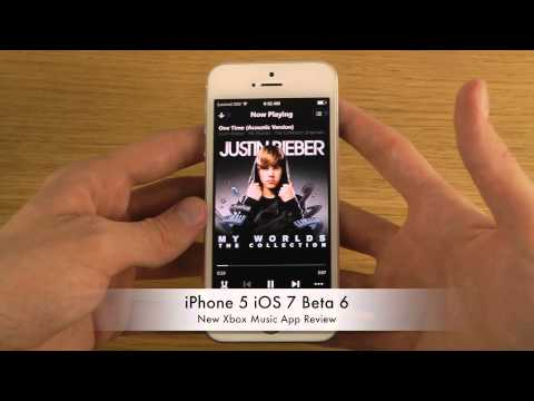 iPhone 5 iOS 7 Beta 6 - New Xbox Music App Review