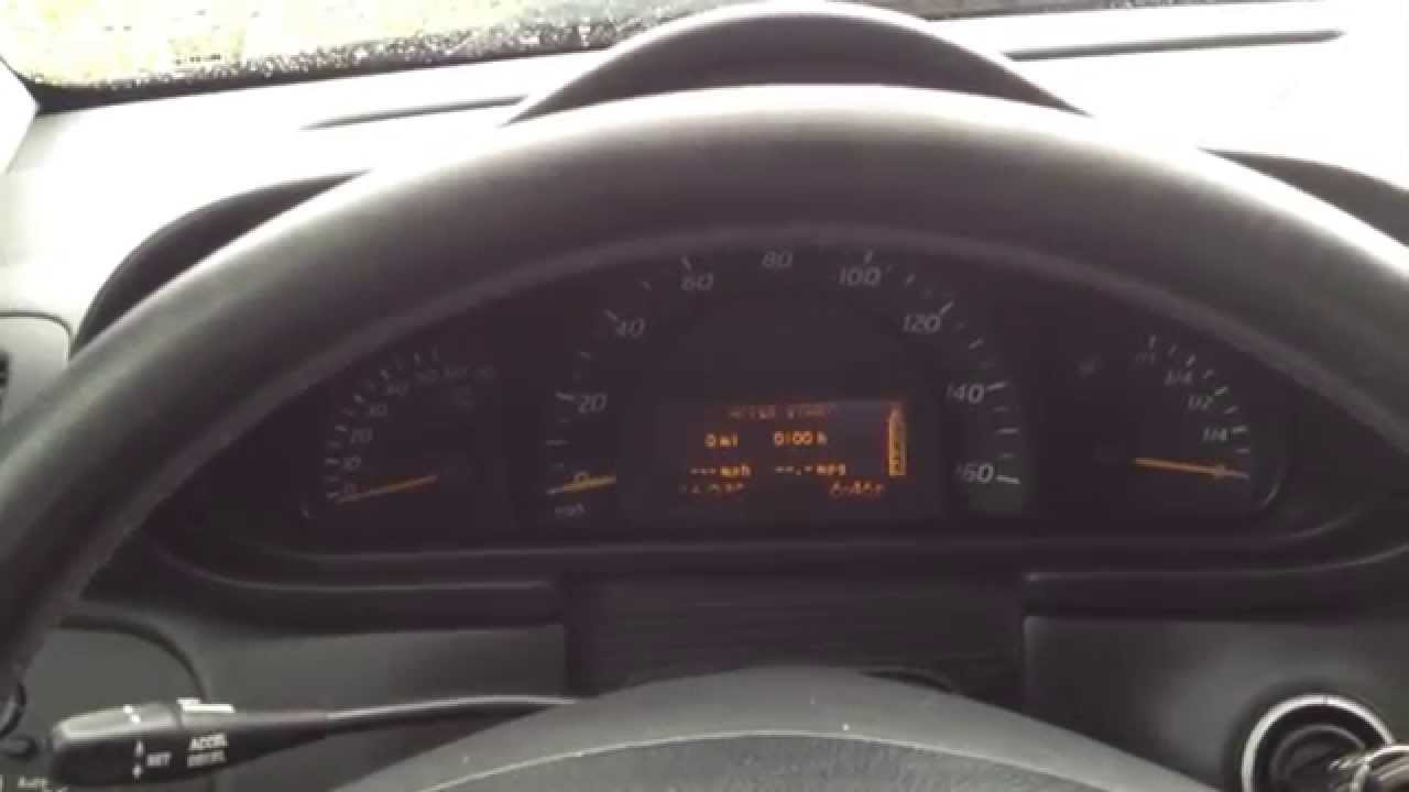 ecu wiring diagram mercedes ford 3600 tractor parts w203 cluster removal and repair faded lcd display - youtube