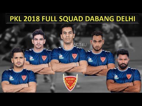 Dabang Delhi Team 2018 | Dabang Delhi team full squad 2018 | Dabang Dehi PKL Season 6 Full Squad