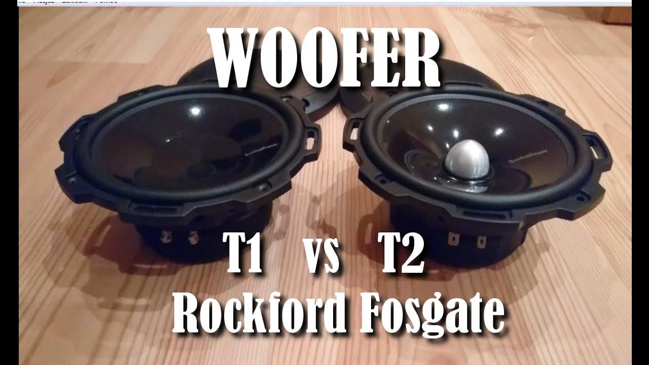 Rockford Fosgate T1 vs T2 Woofer #T1652S vs T2652S