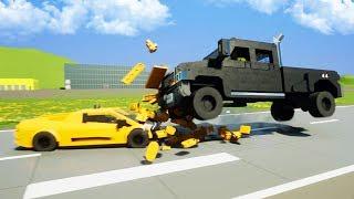 Самая быстрая ЛЕГО машина против ОГРОМНОГО грузовика! Опасное противостояние машин в Brick Rigs
