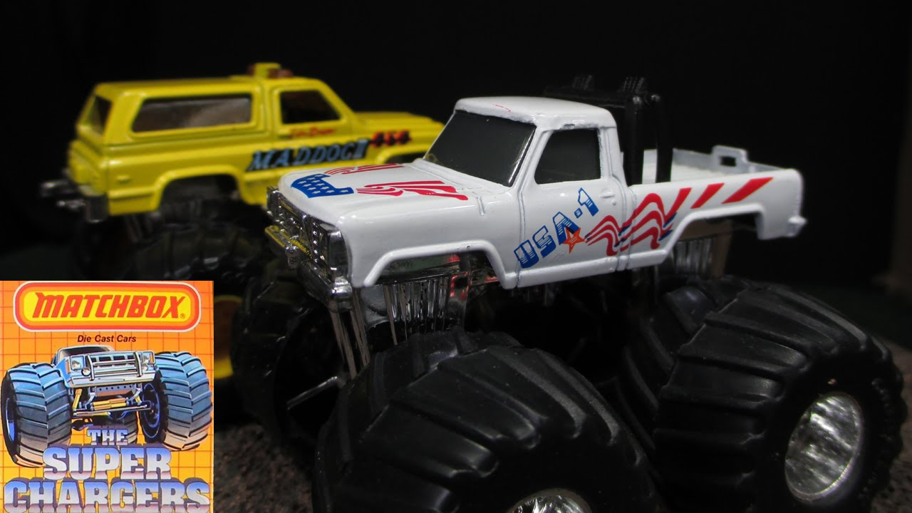 Exceptional Matchbox Super Chargers Monster Trucks From Late 1980u0027s