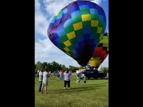 1 Injured in Hot Air Balloon Accident