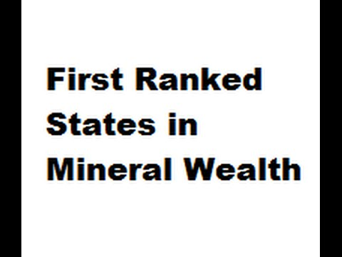 First Ranked States in Mineral Wealth