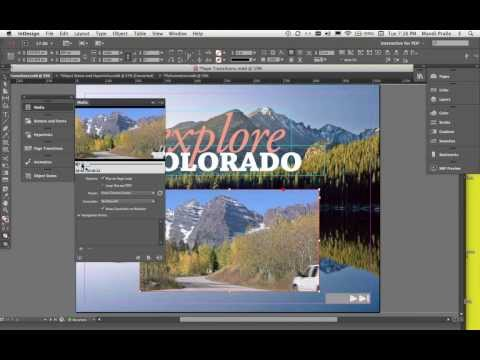 InDesign: Creating Buttons, Adding Video, Adding Page Transitions