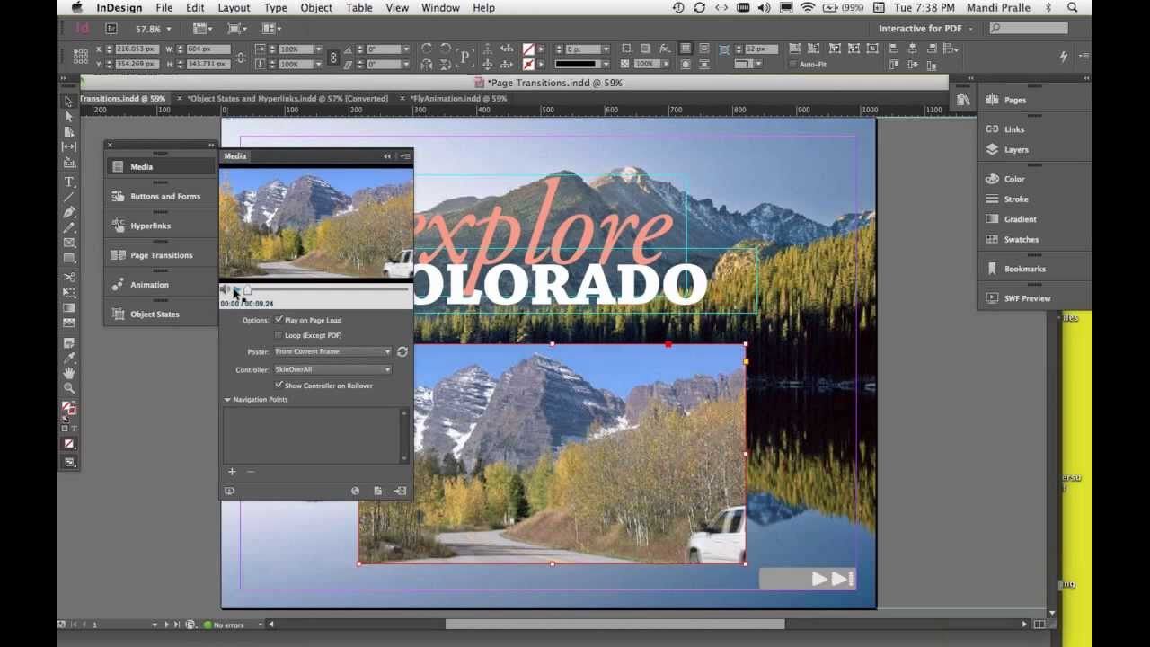 creating buttons on indesign interactive pdf