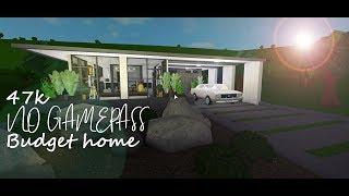 Roblox Bloxburg | No Gamepass Budget Home | Speedbuild | 47k