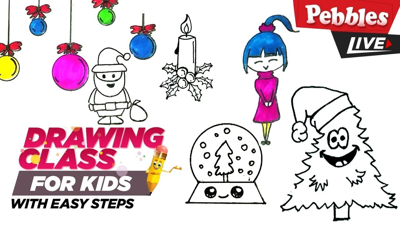 Christmas Drawing Ideas Easy Collection 2 Step By Step Drawing For Kidschristmas Drawing For Kids