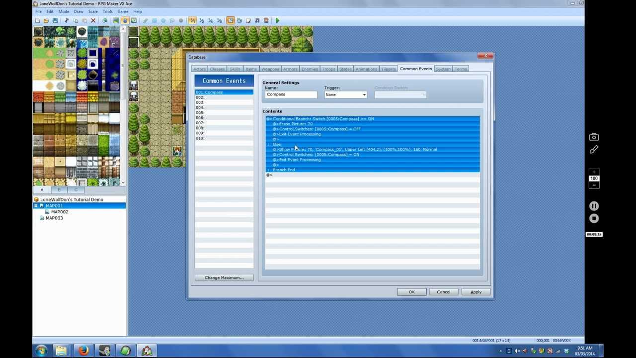 RPG Maker Vx Ace Tutorial: Button Call Common Events