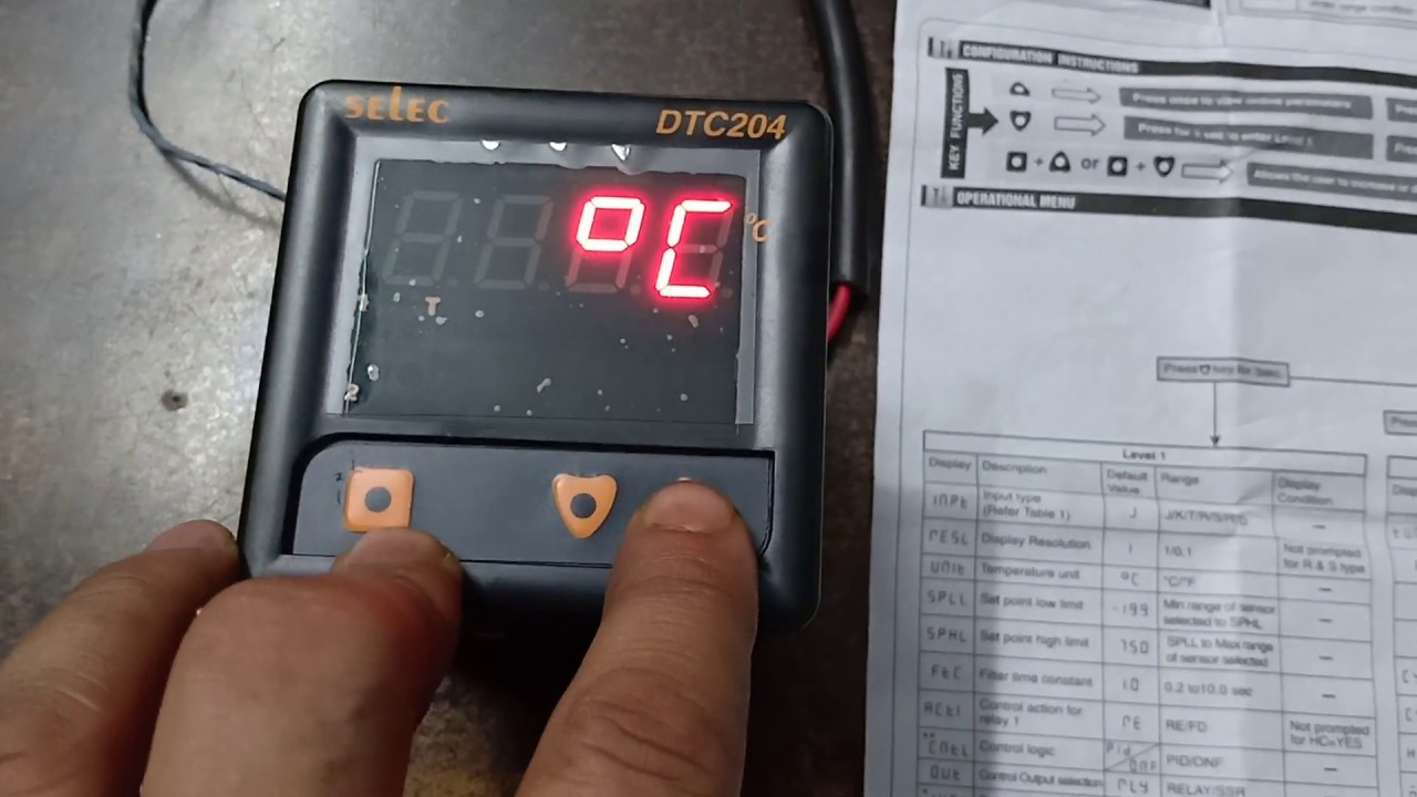 Selec DTC204 wiring and configuration setting - YouTubeYouTube