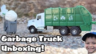 Garbage Truck Videos For Children l Kenworth T470 l UNBOXING, REVIEW and PLAY!