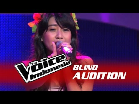 Vanessa Axelia - Halo [ Lyrics ] - The Blind Audition - The Voice Indonesia