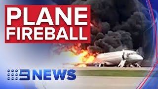 More than 40 killed as Russian jet bursts into flames   Nine News Australia