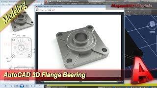 Autocad Design 3D Flange Bearing Modeling Tutorial