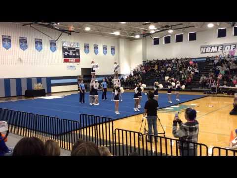 North Pike Middle School Cheerleaders Ridgeland High School, MS 11-15-14