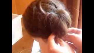Szybki i łatwy kok z włosów do ramion