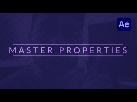Master Properties Tutorial   Most Awesome NEW Update in After Effects CC 2018 April update