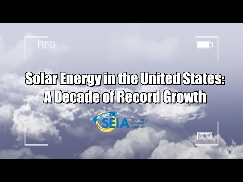 Solar Energy in the United States: A Decade of Record Growth