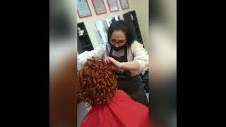 Прическа голливудские локоны Завивка волос в Броварах Hair curling Салон красоты La Familia