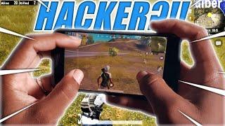 Hacker??! 3 Finger Claw Handcam Gameplay  PUBG MOBILE