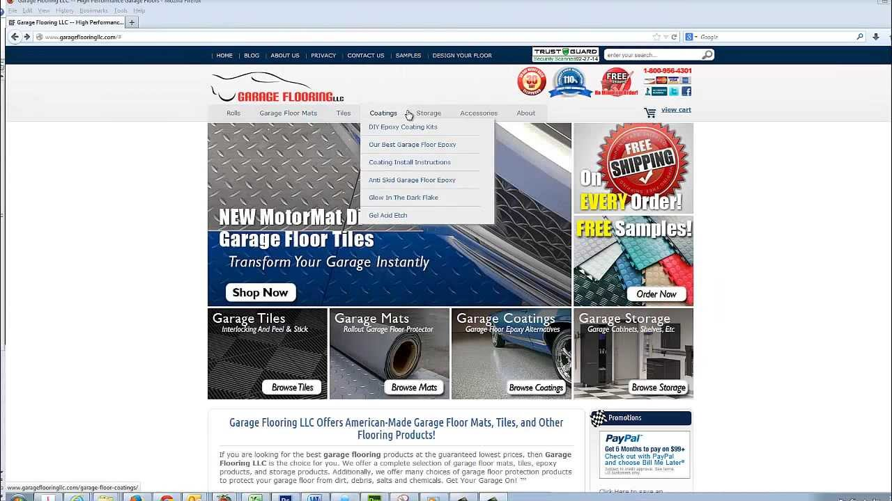 Garage floor mats installation accessories and for Garage ad agde