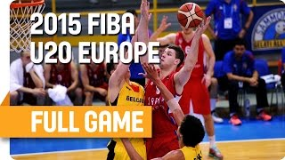 Belgium v Serbia - Group E - Full Game - U20 European Championship Men