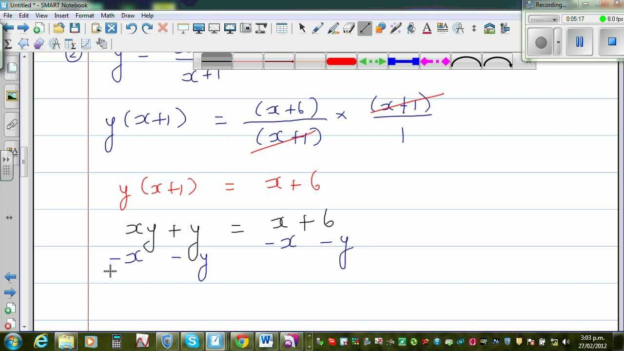 Rearranging formula to make x the subject of the formula
