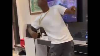 Soft dancing to his song Bentley Benz & Gucci